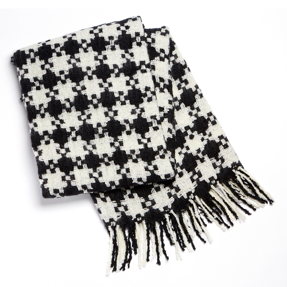 Black & White Houndstooth Throw