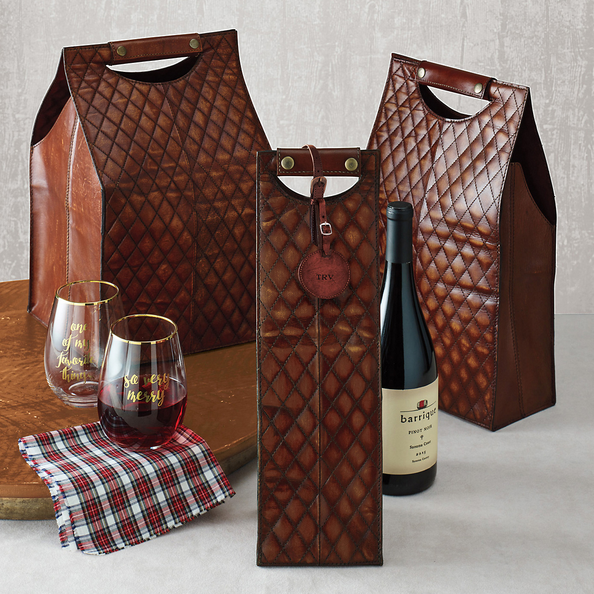 Chateau Quilted Wine Bottle Carriers