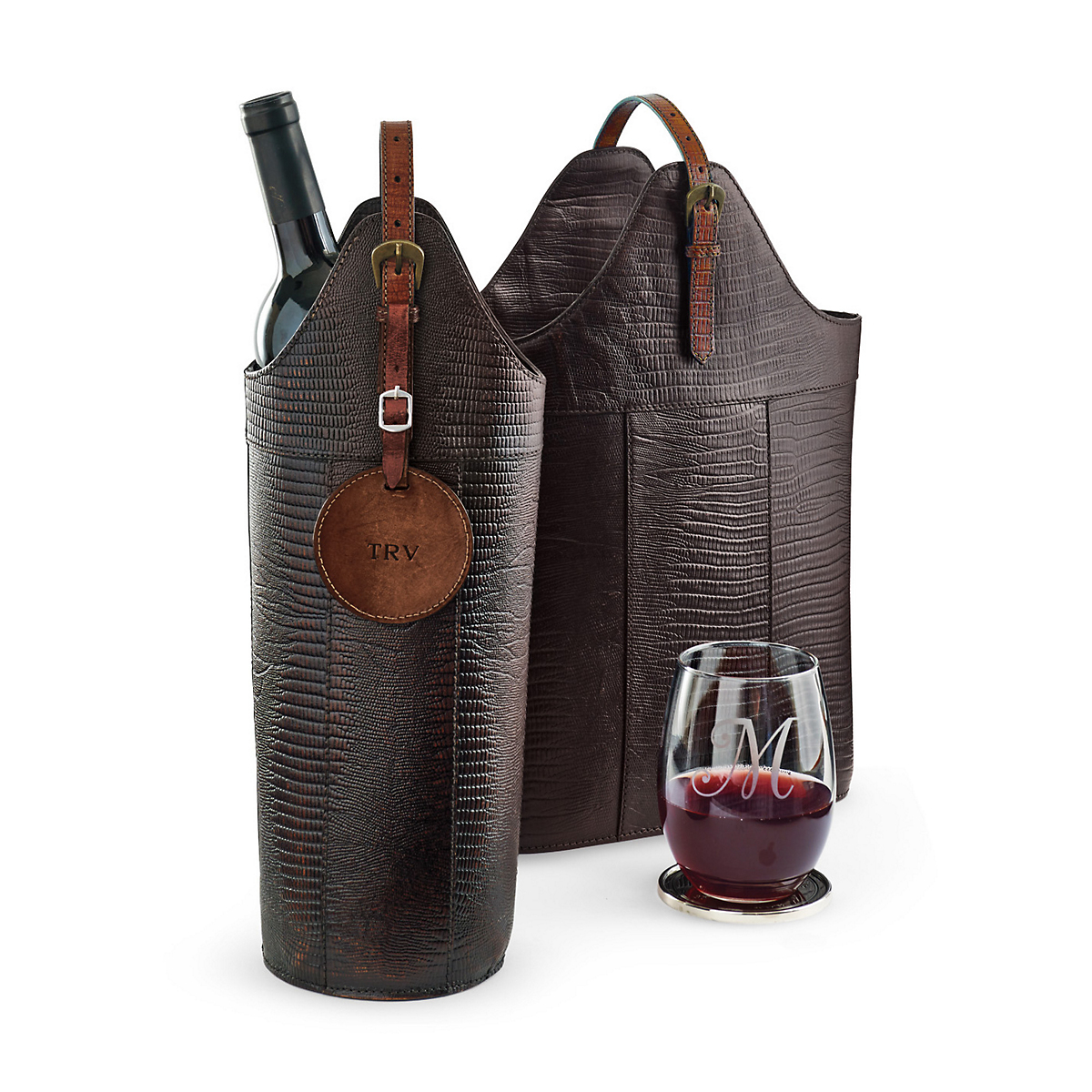Estate Textured Wine Bottle Carriers