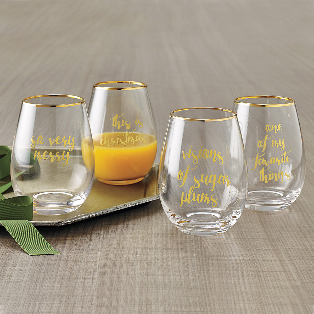 Merry Toast Wineglasses