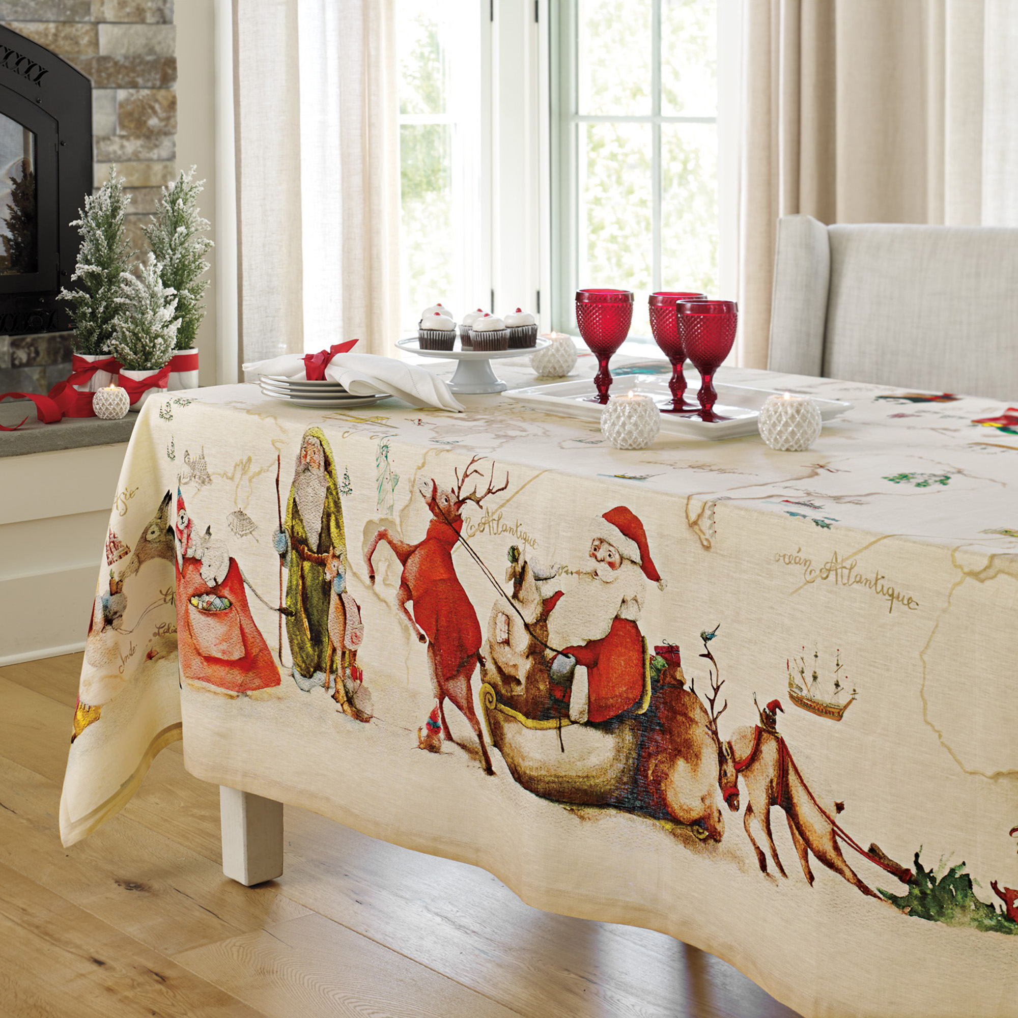 Santa's Journey Tablecloth