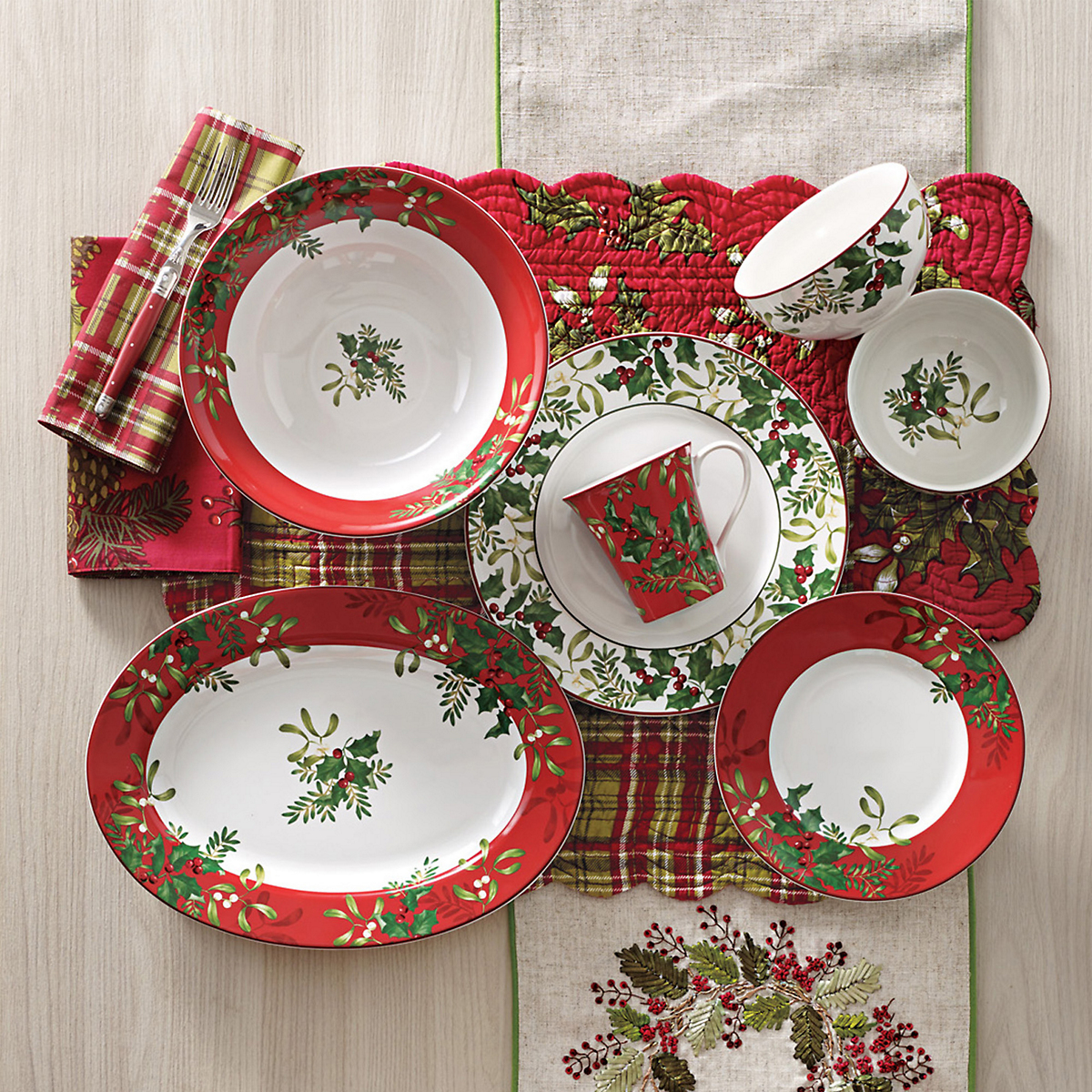 Holly Dinnerware