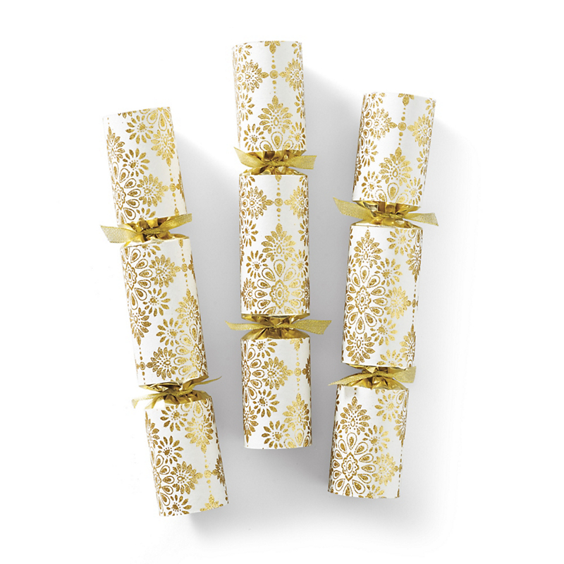 Gilded Holiday Crackers, Set Of 6