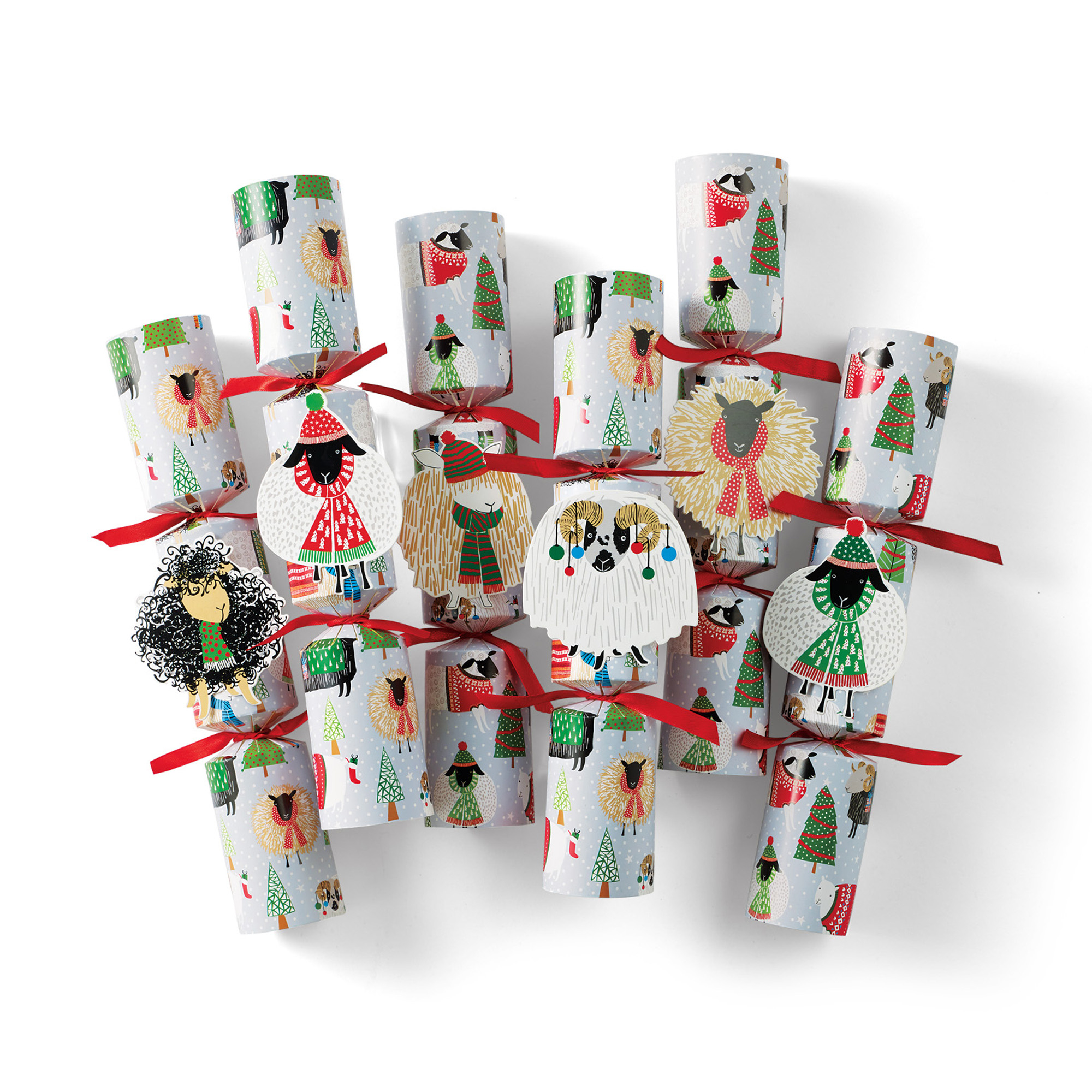 Happy Holiday To Ewe' Crackers, Set Of 6