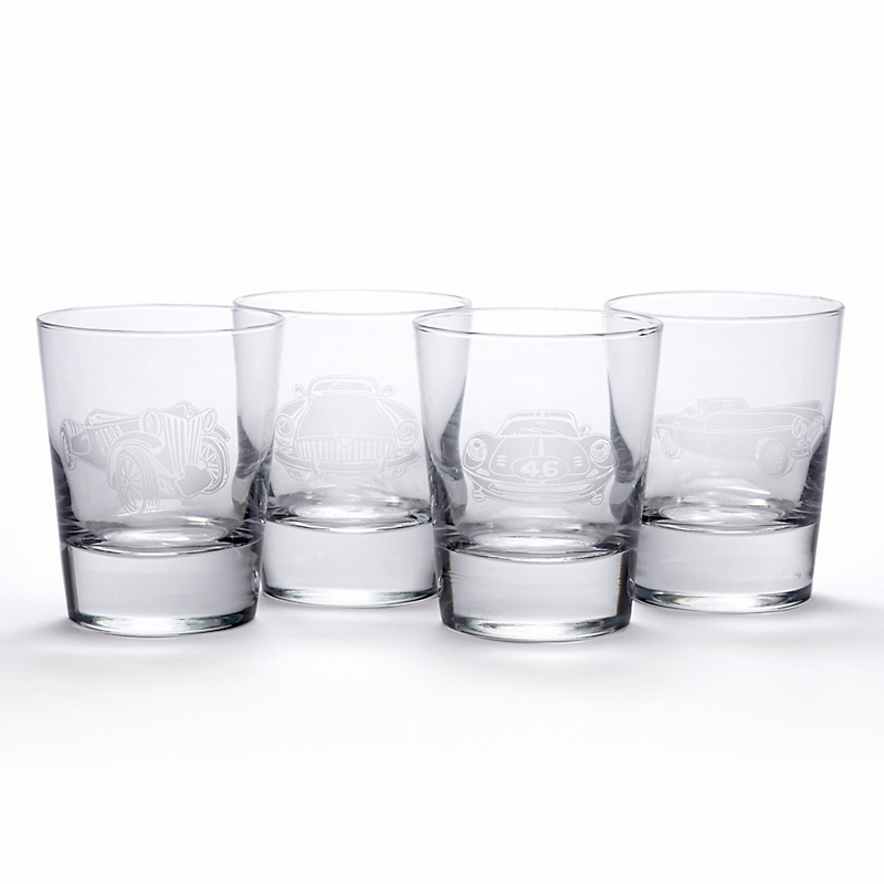 Classic Car Double Old-Fashioned Glasses