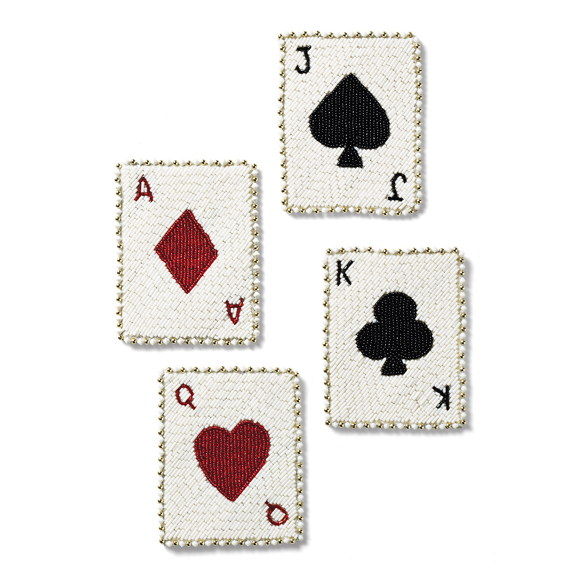 Kim Seybert Deck Of Cards Coasters