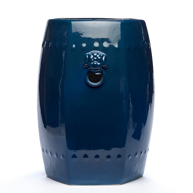 Blue Foo Dog Garden Stool