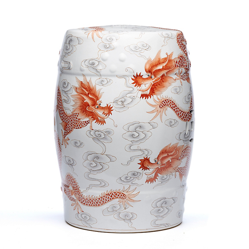 Red Dragon Garden Stool