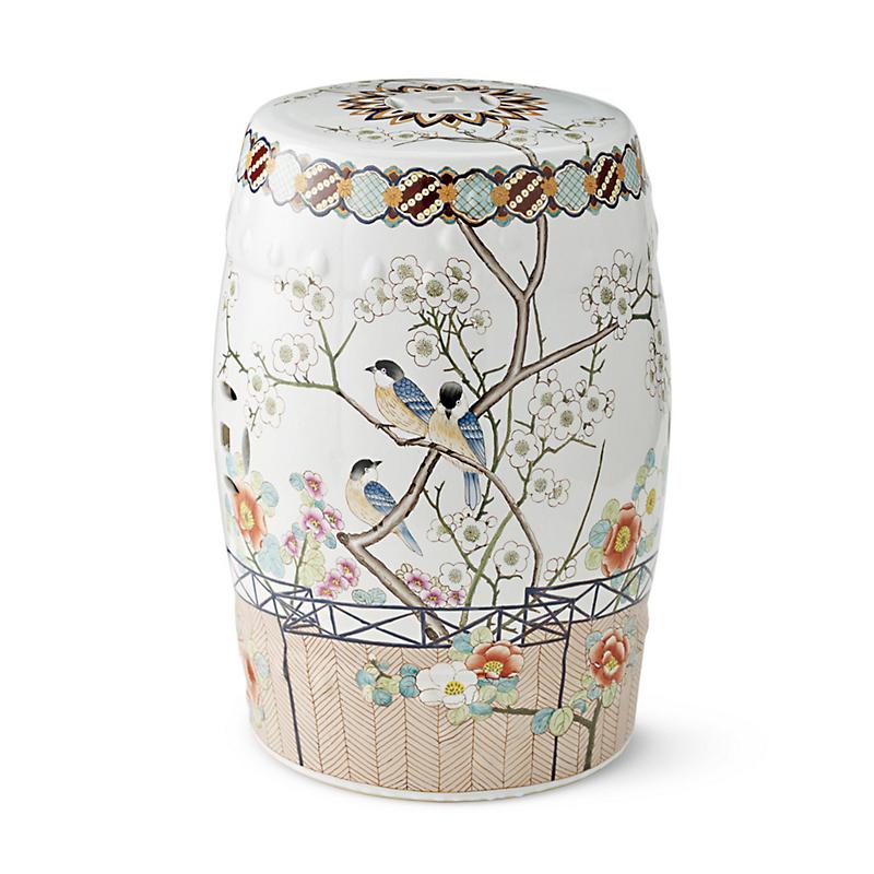 Japanese Blossom Garden Stool