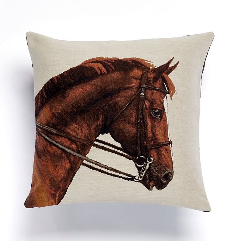 Belfort Horse Tapestry Pillow