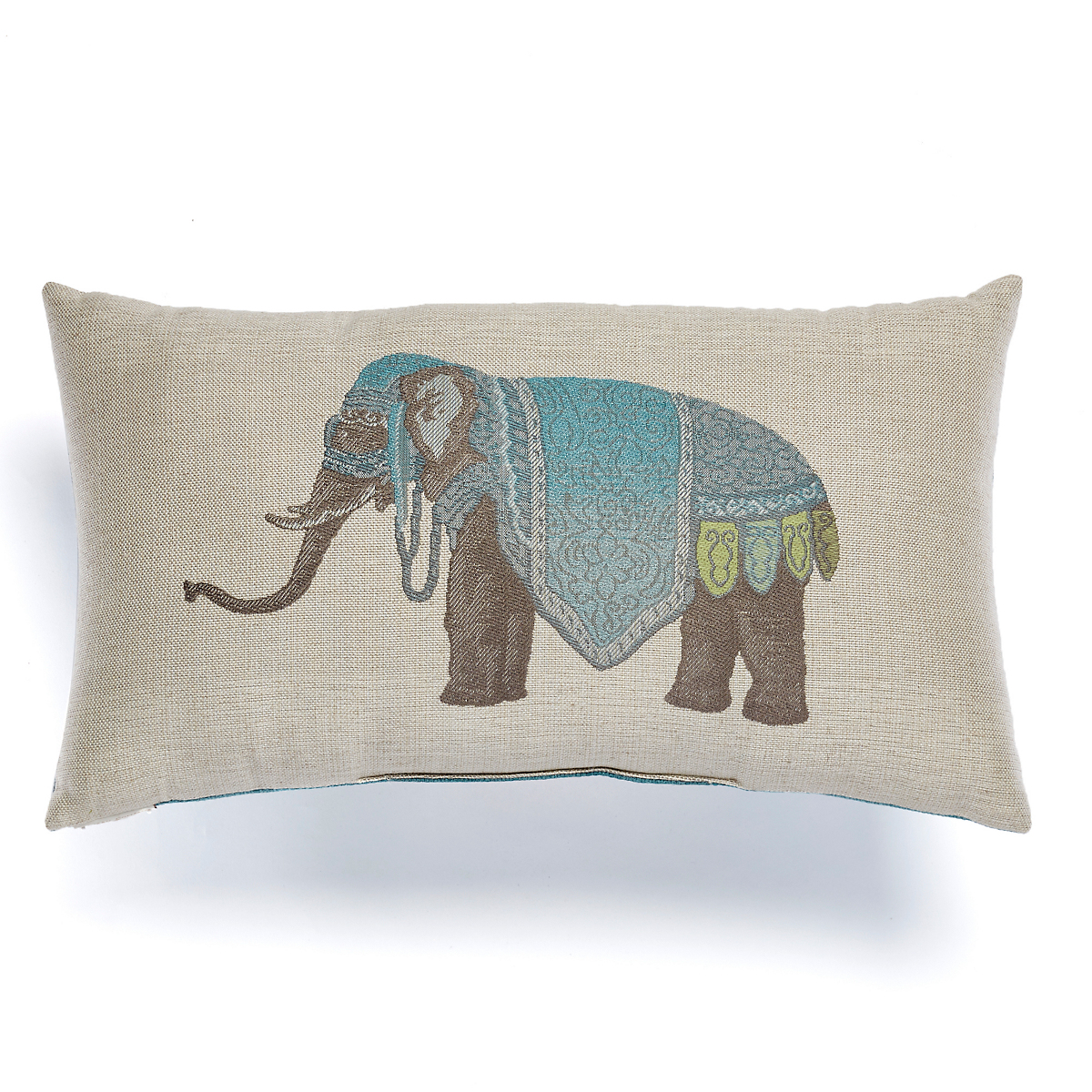Azure Noble Elephant Pillows