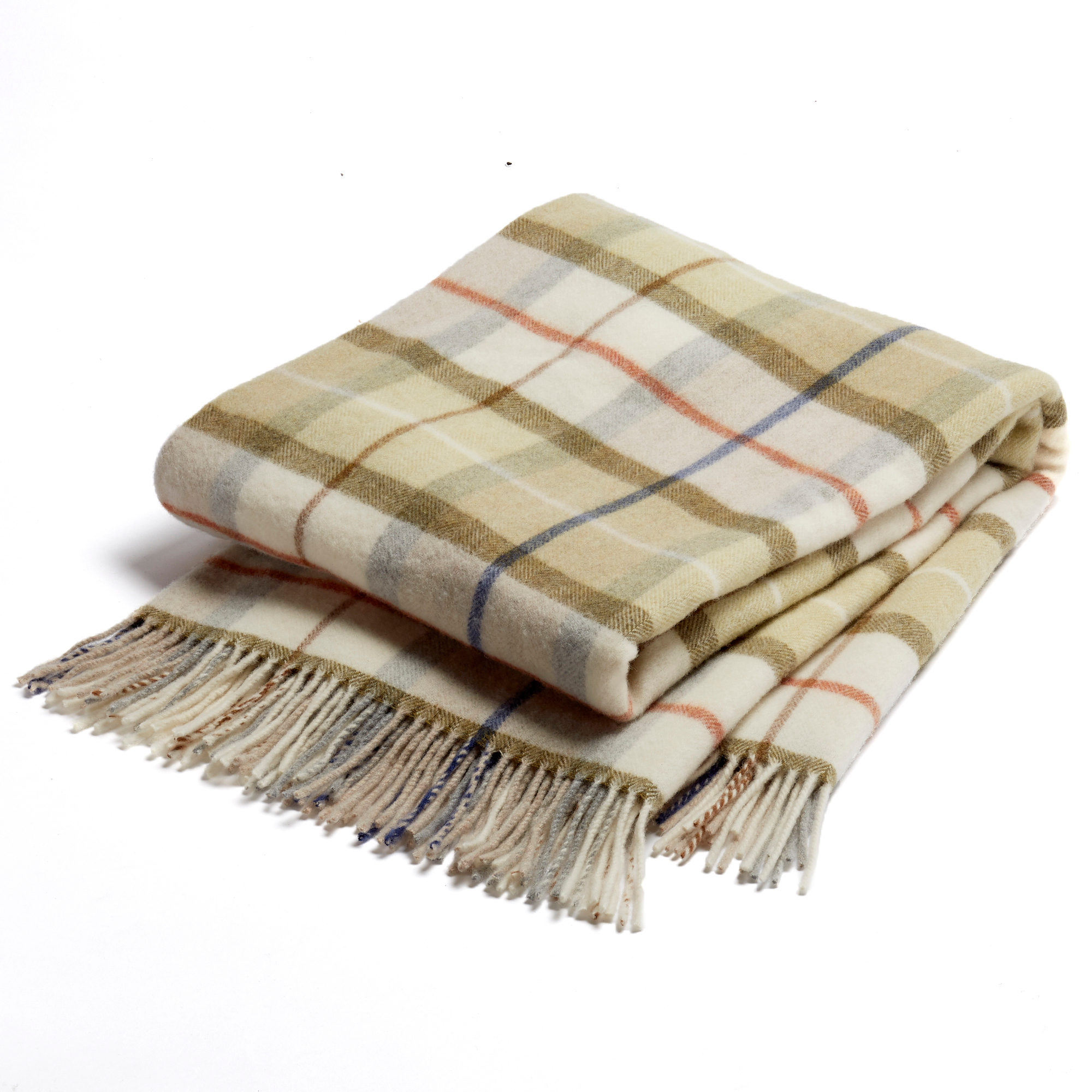 Tuscany Italian Lambswool Plaid Throws