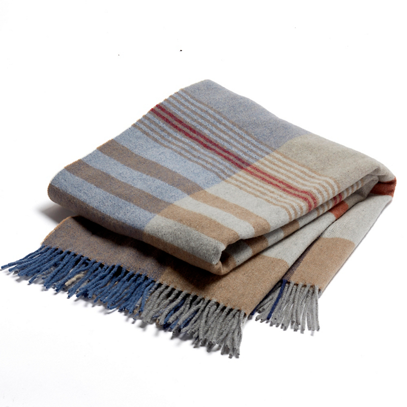 Napoli Italian Lambswool Plaid Throws