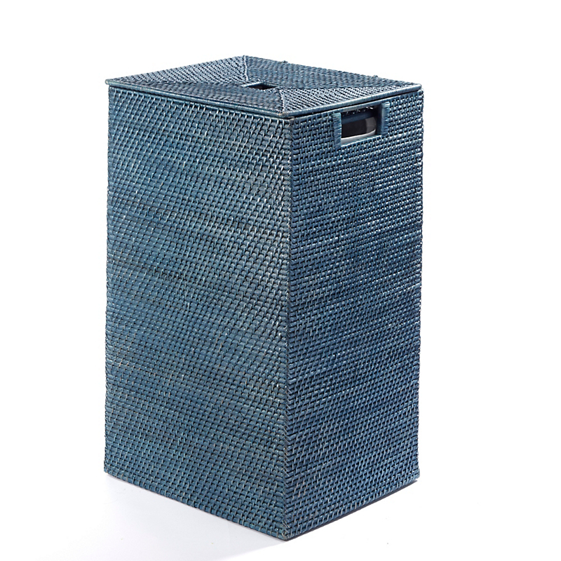 Blue Rattan Hamper