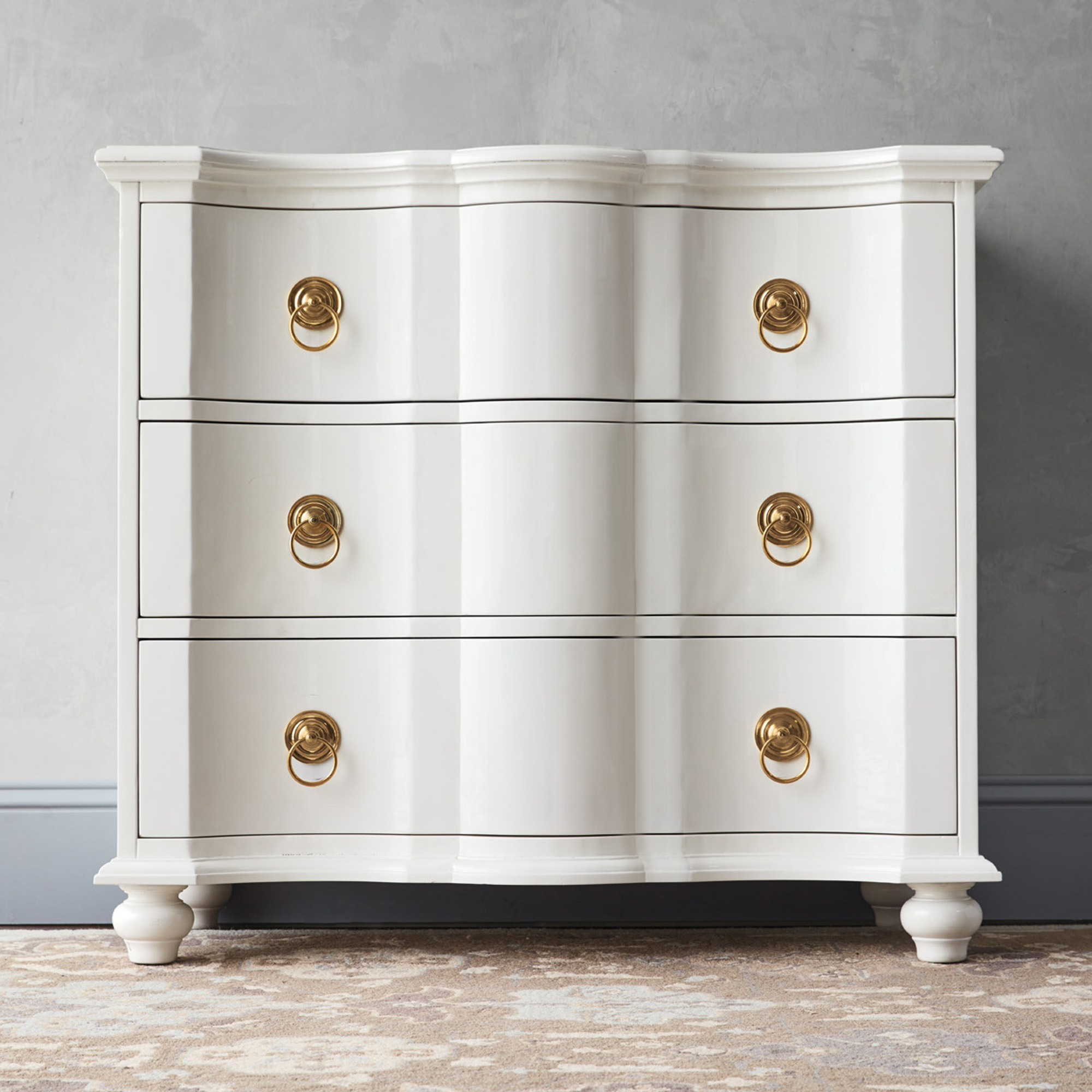 Brianna White Lacquered Chest