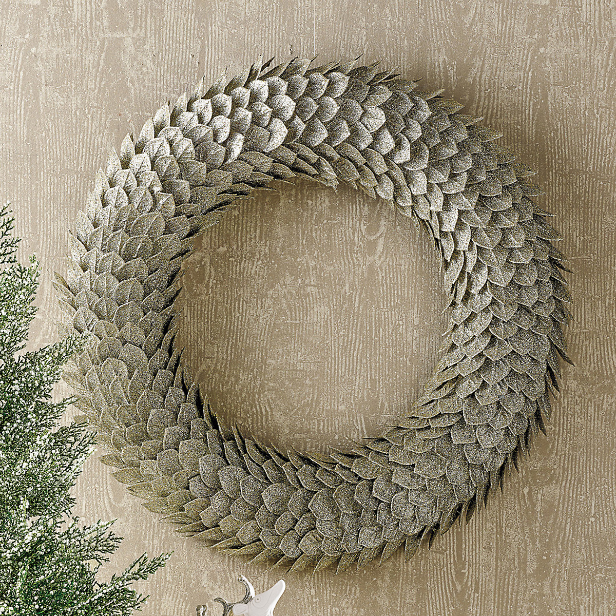 Silver Leaf Wreath