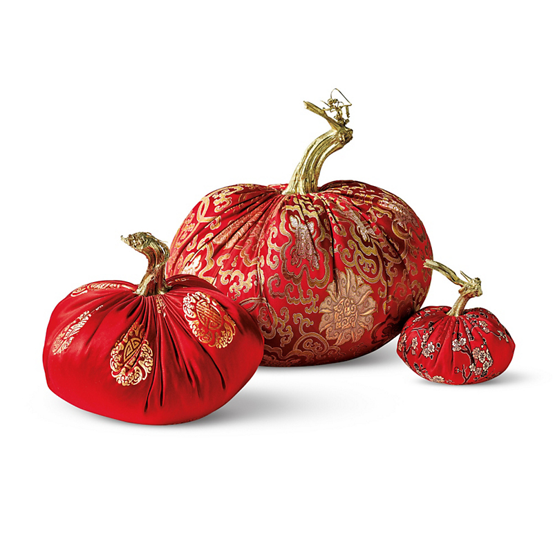 Red Brocade Pumpkins