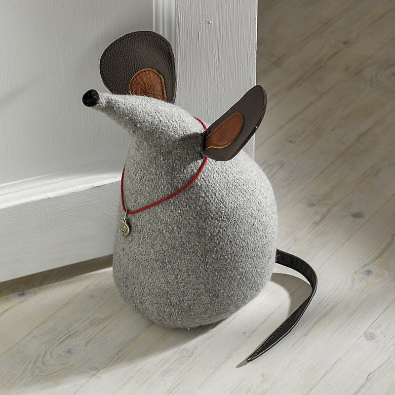 Gray Mouse Doorstop