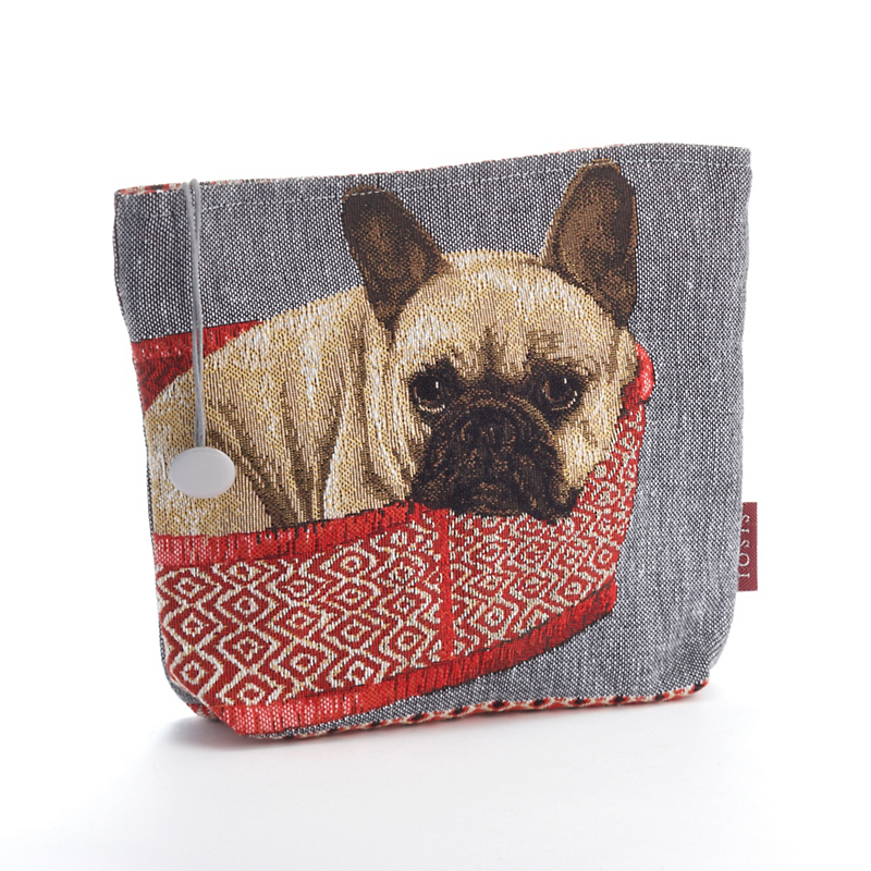 French Bulldog Tapestry Makeup Bag
