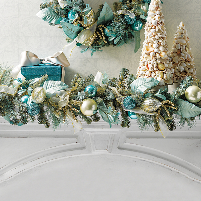 Aquamarine Holiday Garland