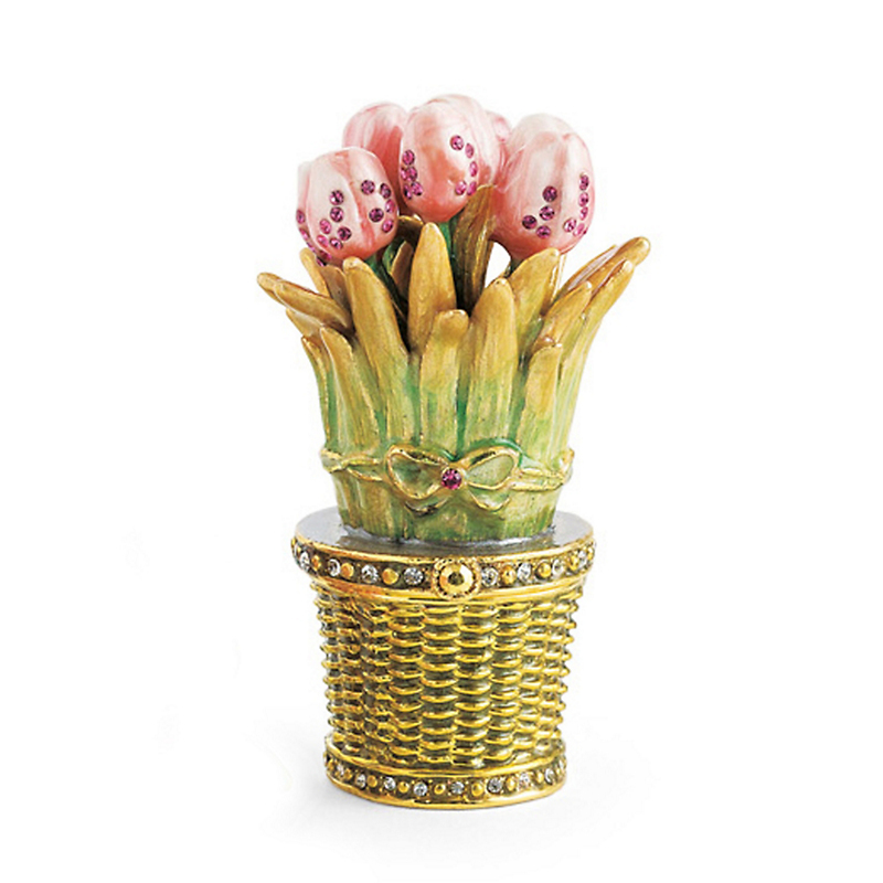 Floral Trinket Box, Tulips