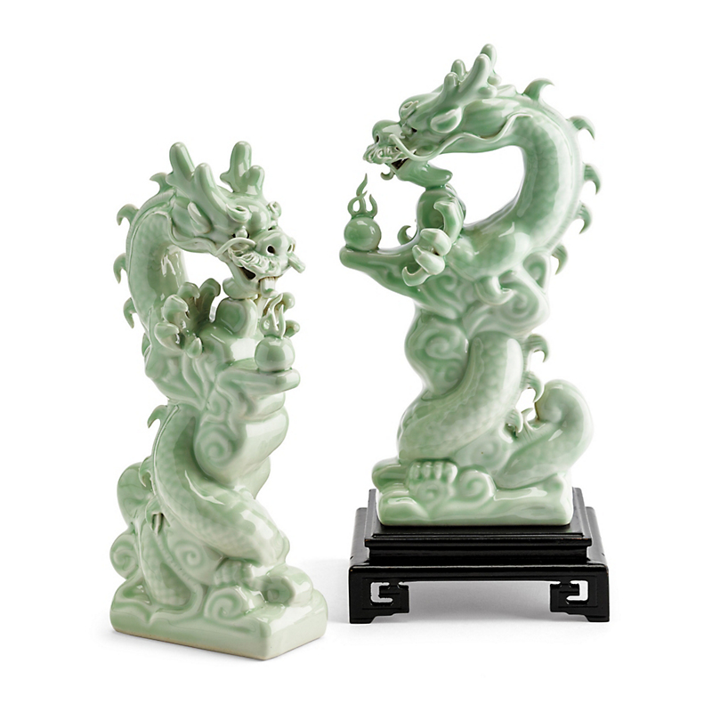 Celadon Dragon Figures