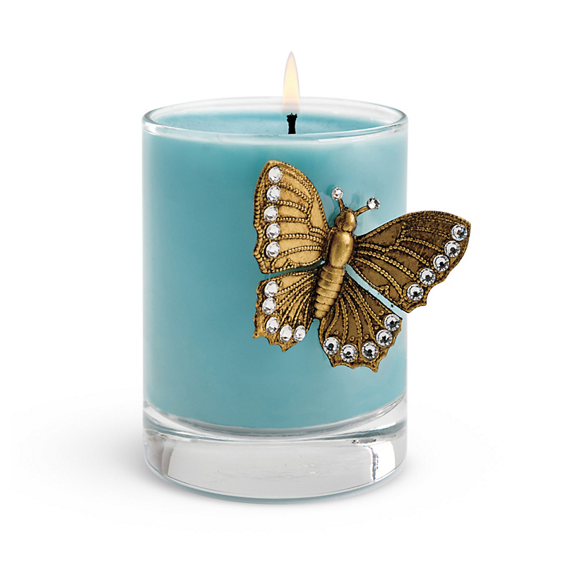 Swarovski Butterfly Candle, Blue