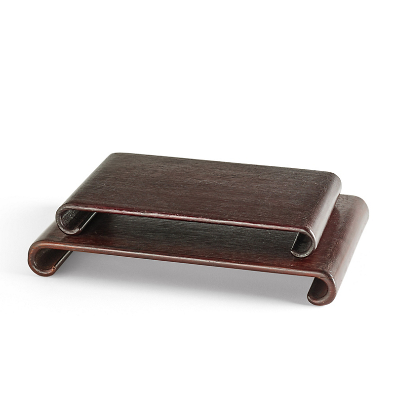 Rectangular Wooden Scroll Stands