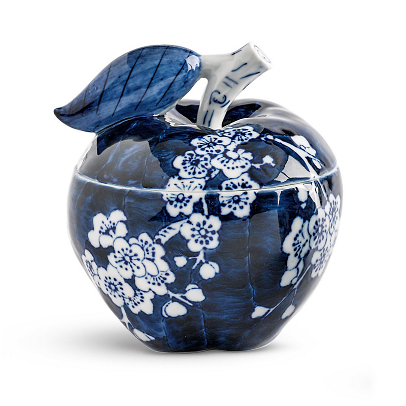 Blue & White Apple Box