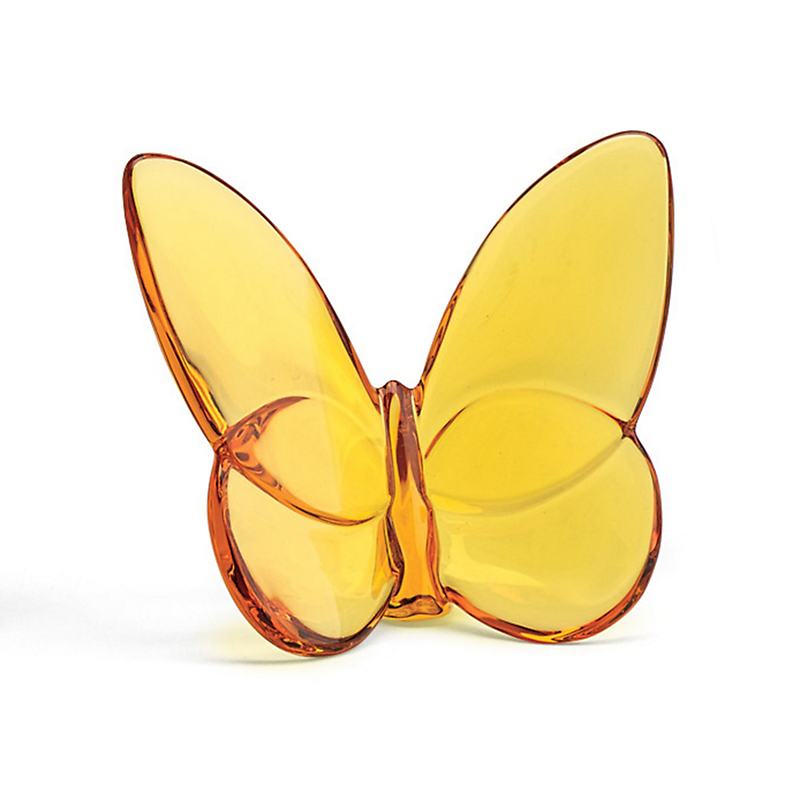 Baccarat Baccarat Lucky Butterfly, Amber Yellow