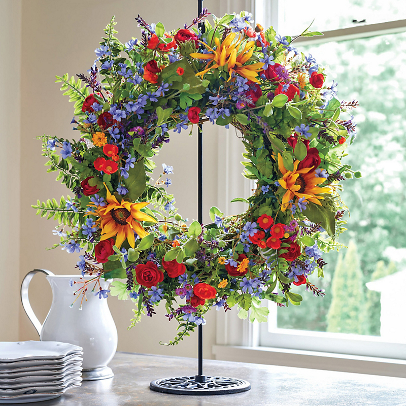 Mendocino Wildflower Wreath