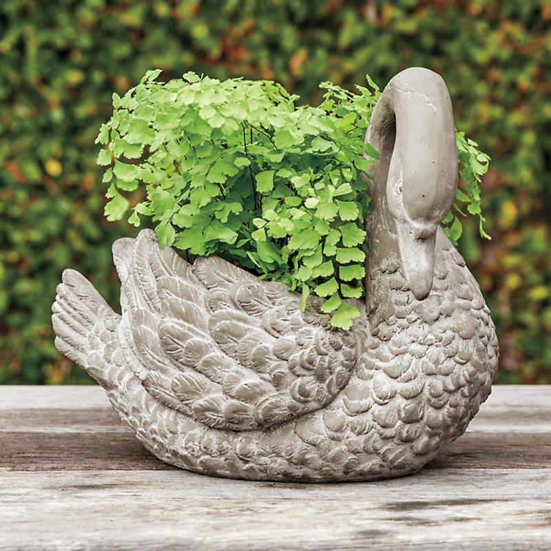 Swan planter gump 39 s - Plastic swan planter ...