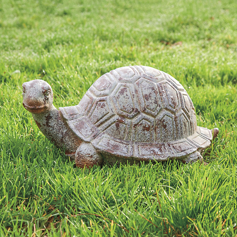Weathered Land Turtle Statue