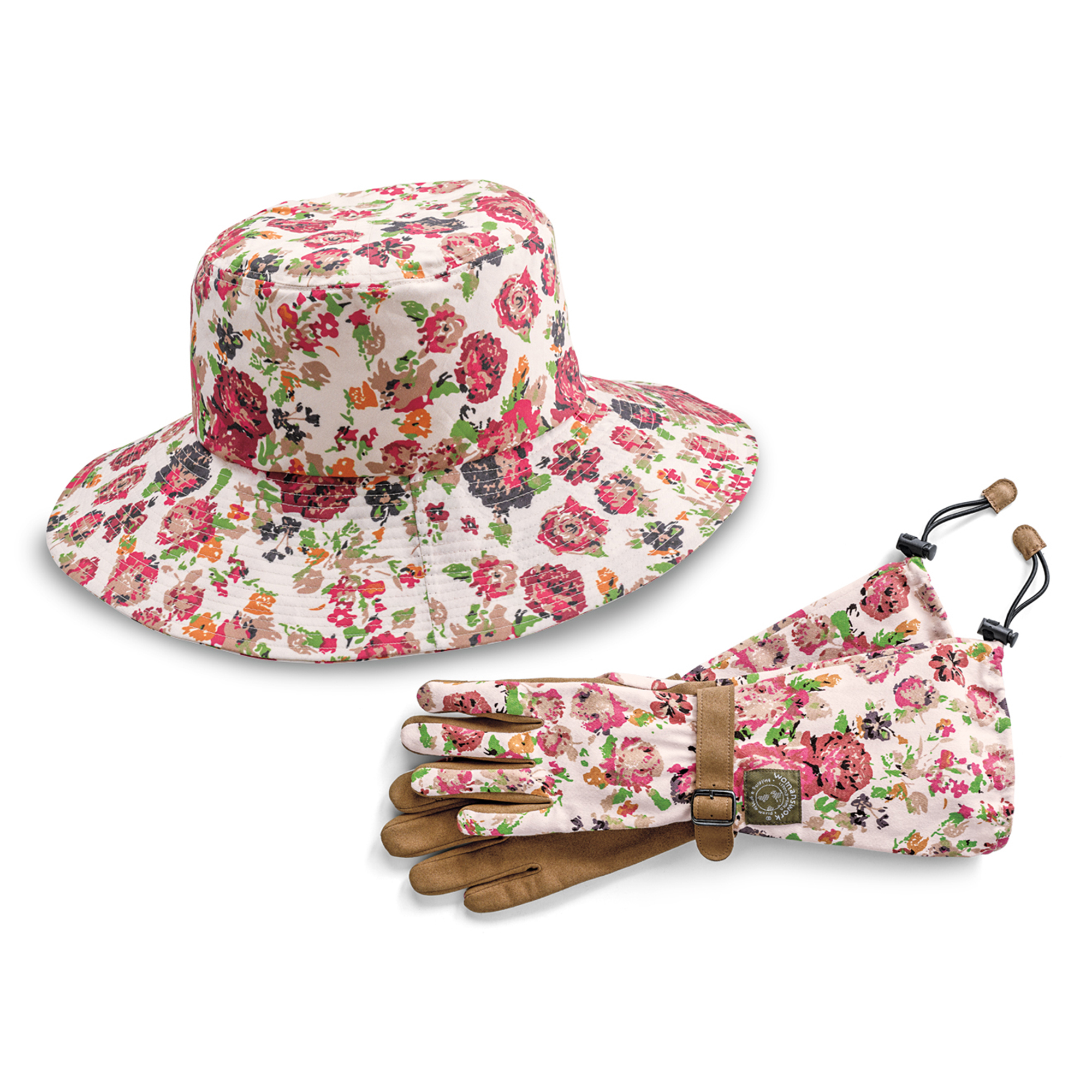 Rose Garden Sun Hat & Gloves