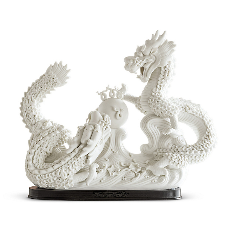 Porcelain Double Dragon With Stand