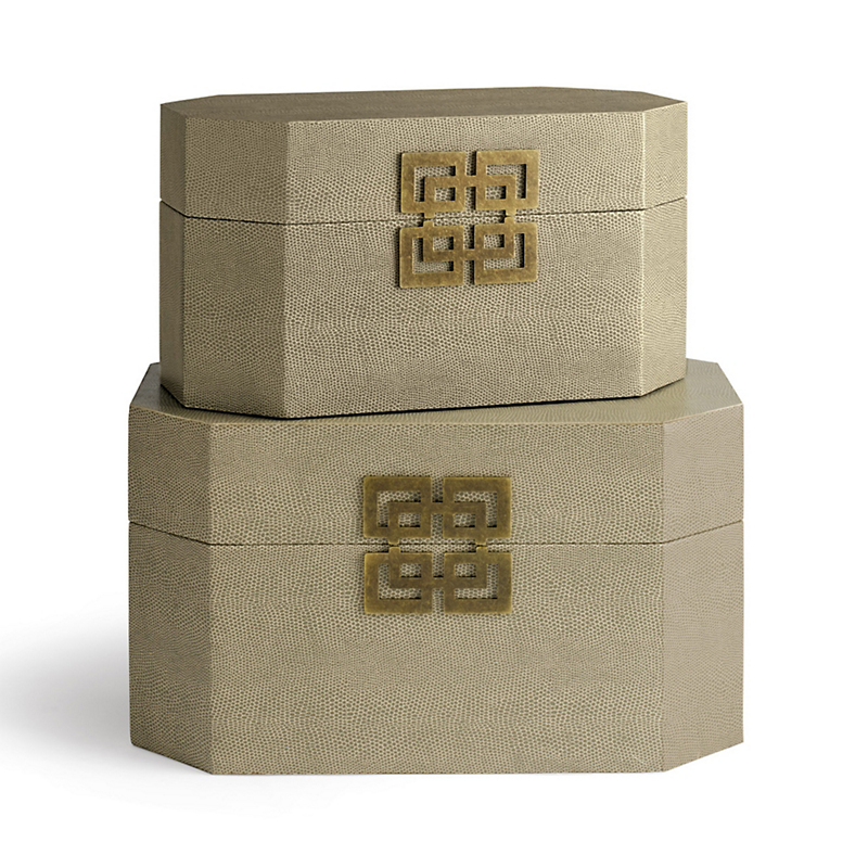 Taupe Shagreen Boxes