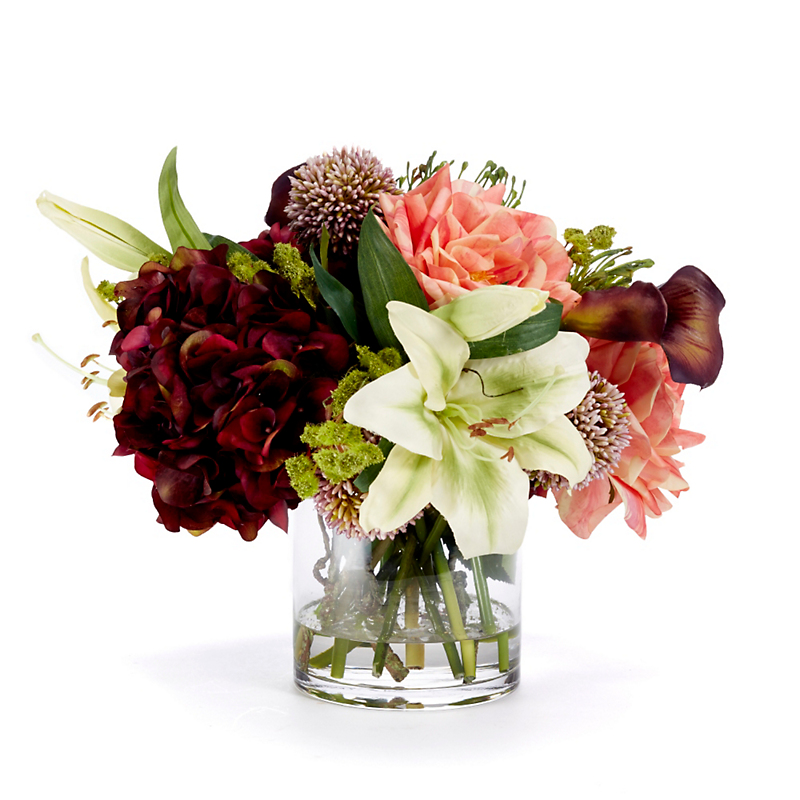 Burgundy Hydrangea Mixed Arrangement