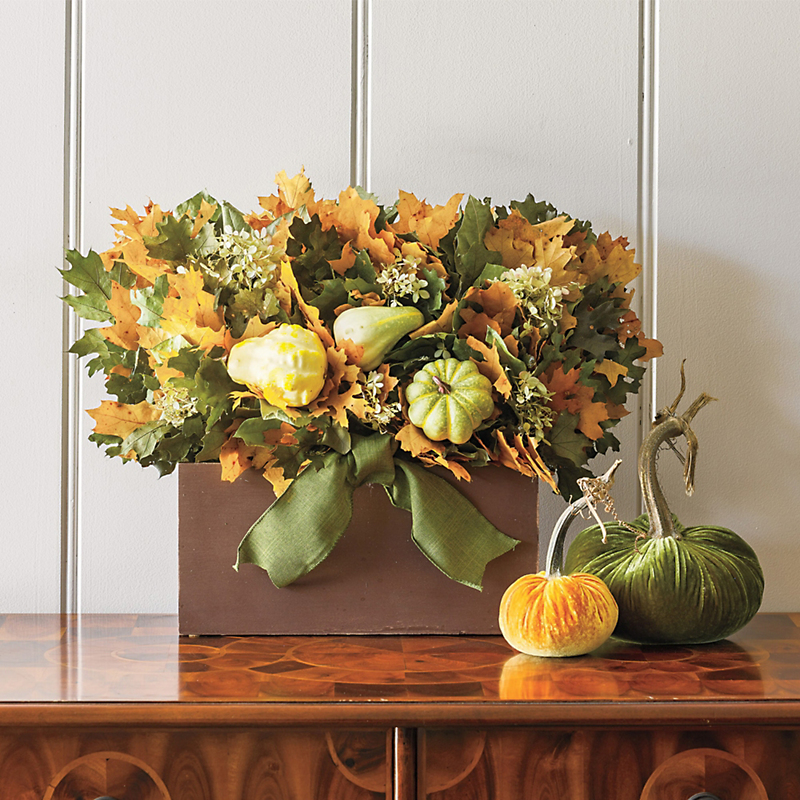 Preserved Rustic Fall Centerpiece