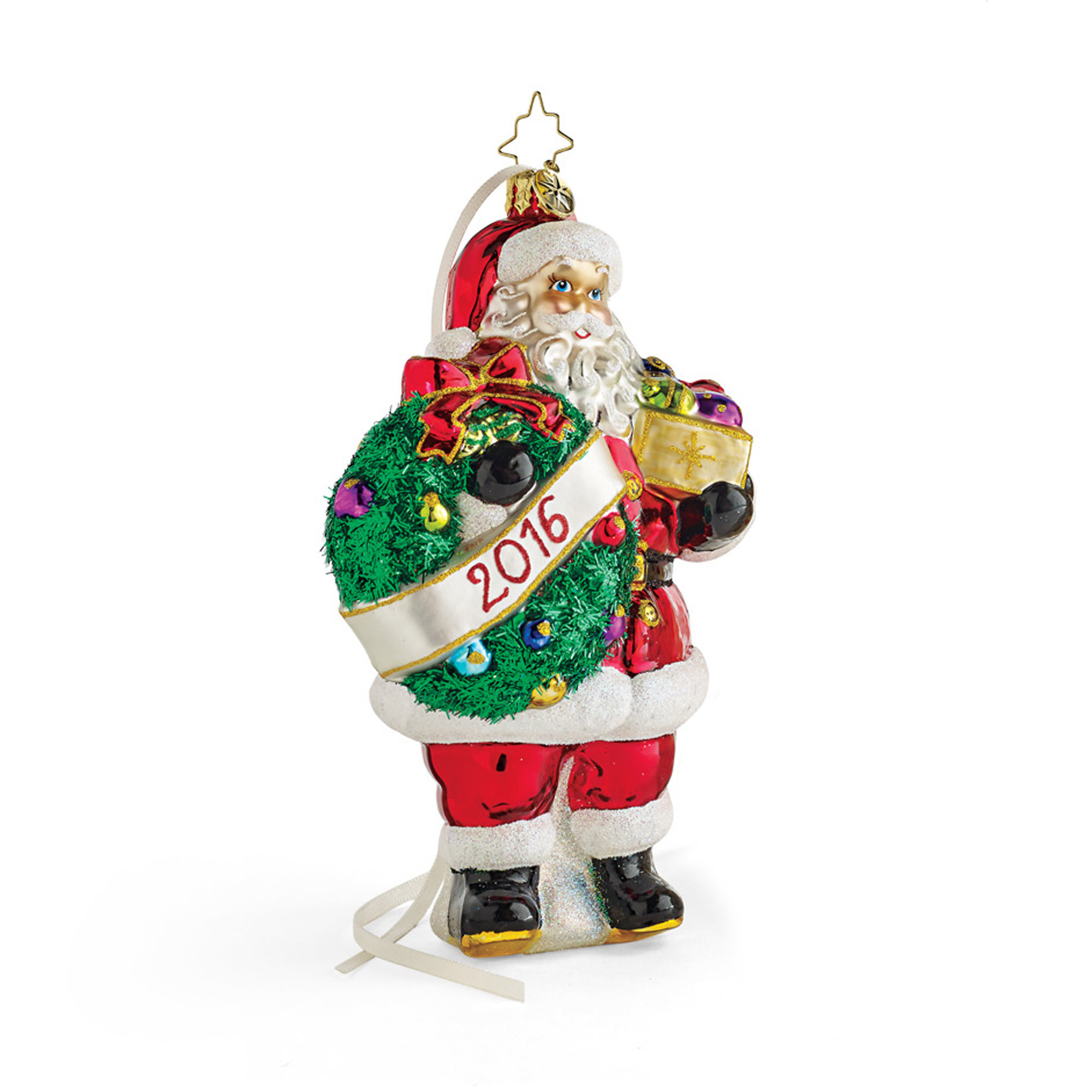 Christopher Radko Holly Jolly Year 2016 Annual Christmas Ornament ...