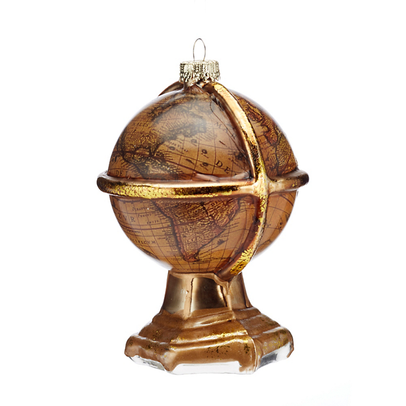 Wisdom Globe Christmas Ornament