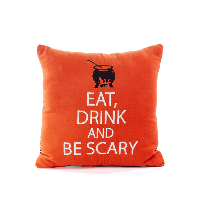 Eat, Drink & Be Scary Halloween Pillow
