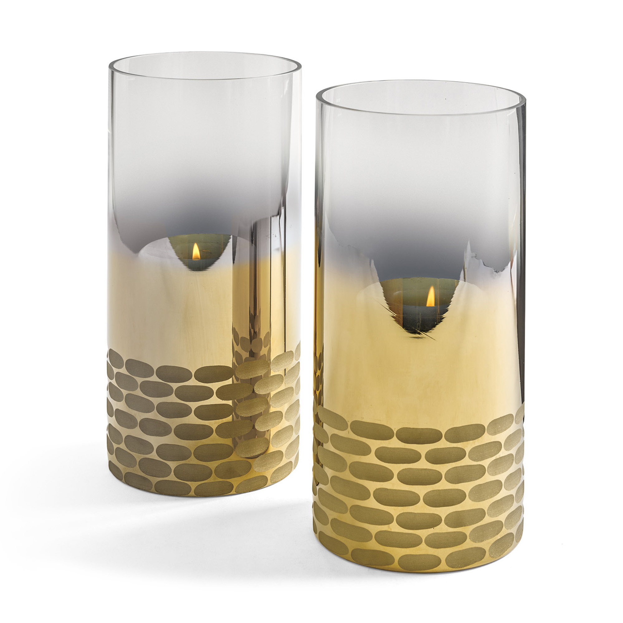 Metallic Etched-Glass Hurricanes