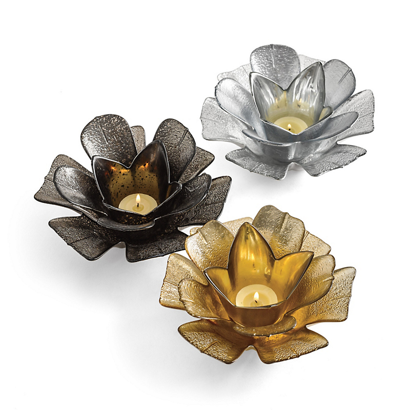 Lotus Candleholders, Set Of 3