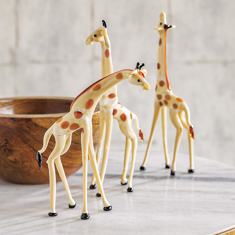 Murano Glass  Giraffe Figures