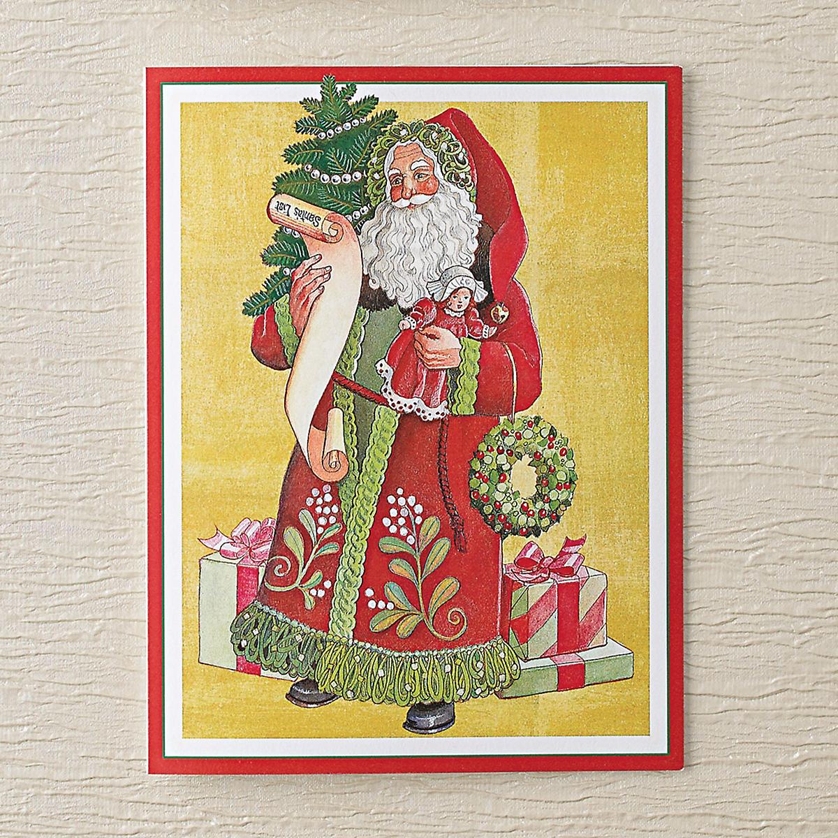caspari mistletoe memories christmas cards - Caspari Christmas Cards