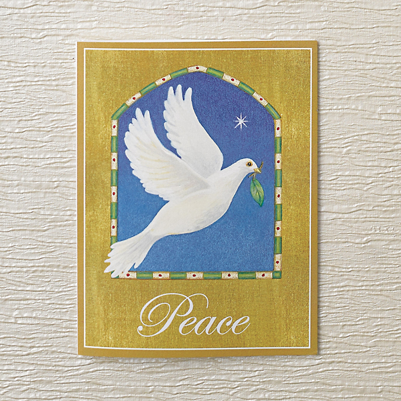 Caspari Dove Of Peace Christmas Cards