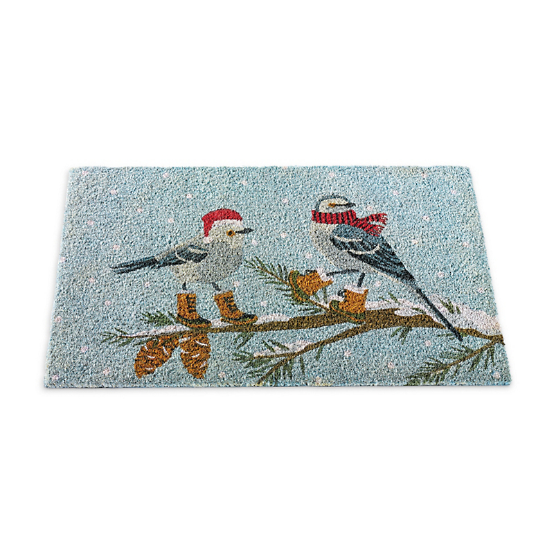 Chickadees In Boots Doormat