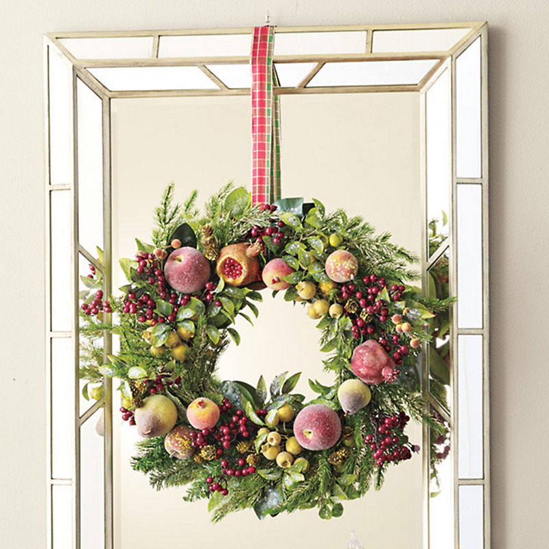 Jeweled Sugared Fruit Wreath