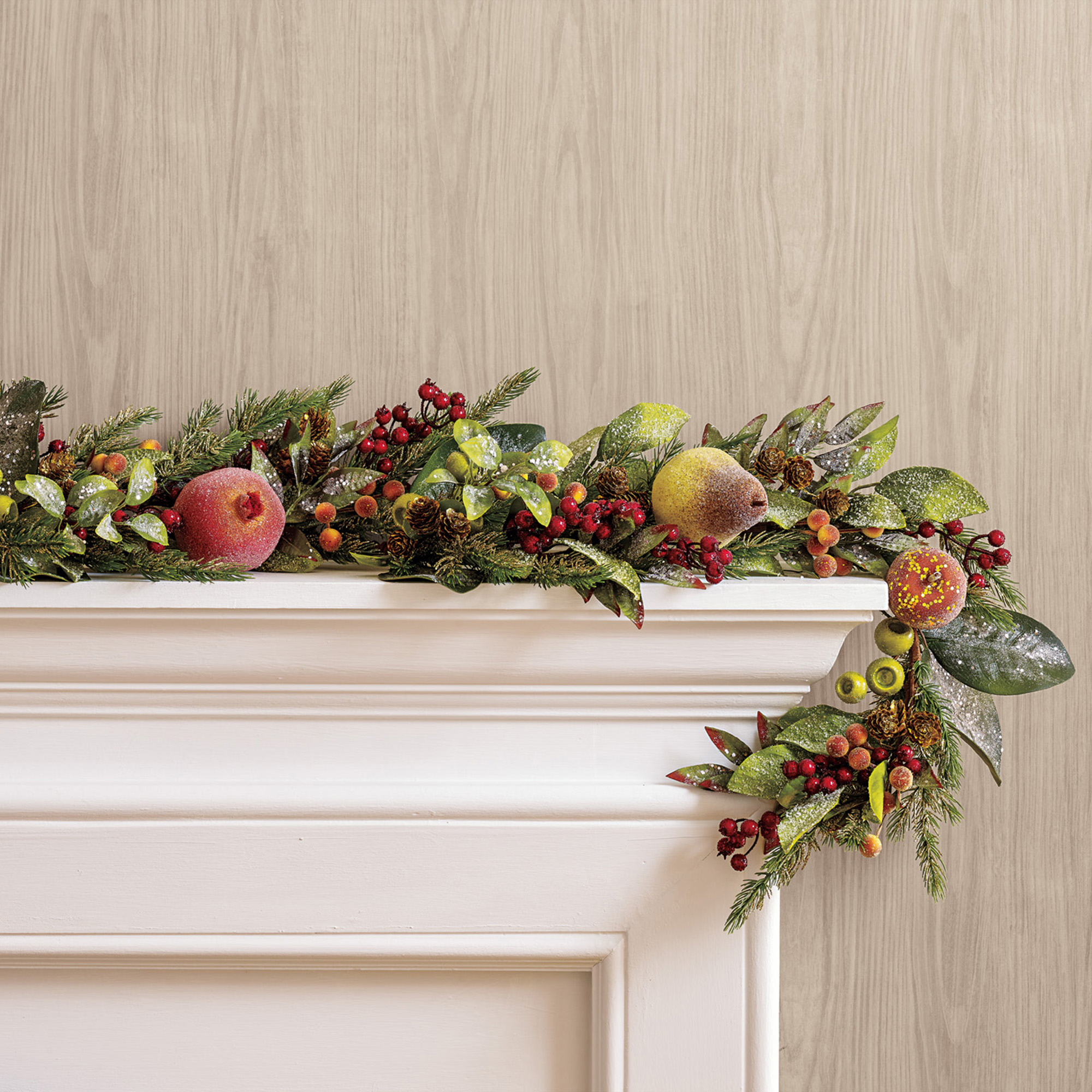 Jeweled Sugared Fruit Garland