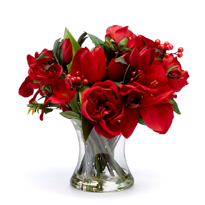 Red Rose Amaryllis Arrangement